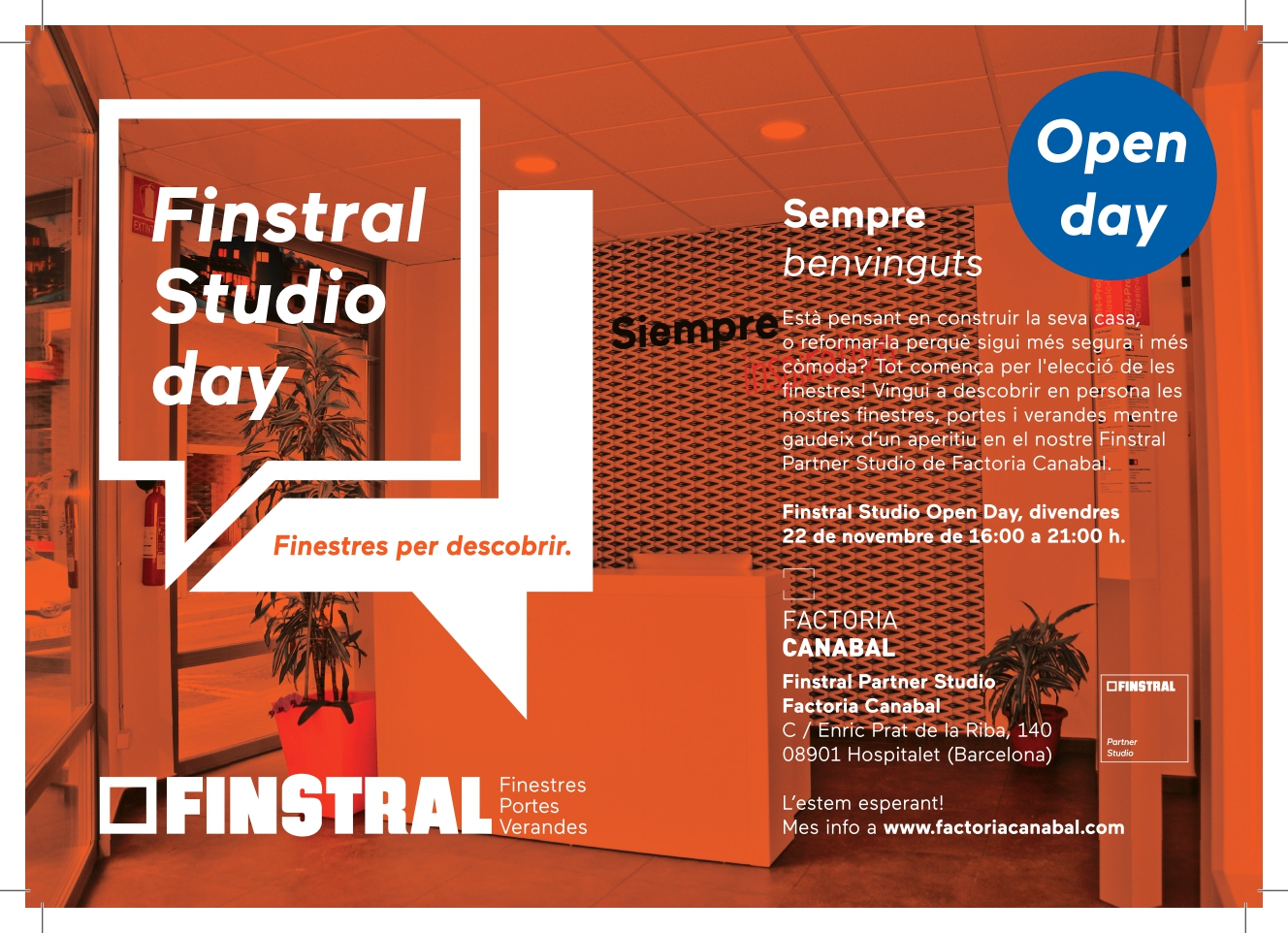 open day a Finstral partner Studio factoria Canabal