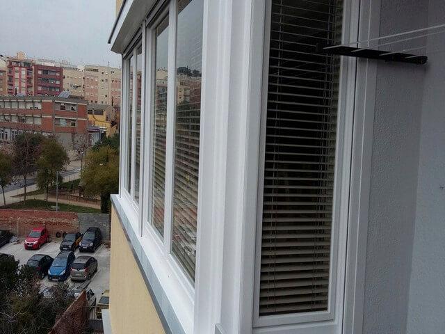 Cerramiento de balcón en PVC en Barcelona